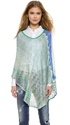 Missoni Zigzag Poncho Yellow Blue