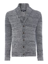 Aquascutum London Dunn Shawl Neck Button Cardigan Navy