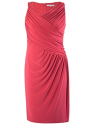 Chesca Ruched Dress Poppy