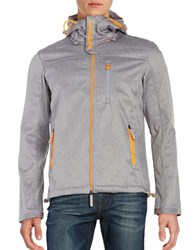 Superdry Hooded Zip Front Jacket Light Grey