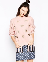 Emma Cook Golden Bugs Sweatshirt Pink