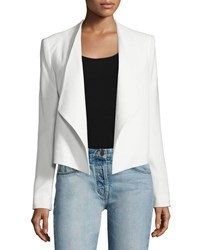Alice Olivia Claude Open Front Shawl Collar Blazer White Size 12