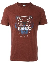 Kenzo 'Tiger' T Shirt Red