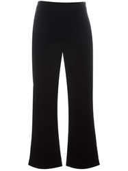 Giorgio Armani Cropped Velvet Trousers Black