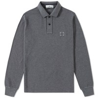 Stone Island Long Sleeve Regular Fit Polo Grey