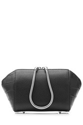 Alexander Wang Embossed Leather Large Makeup Pouch Black