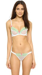 Mimi Holliday Let's Dance Plunge Bra White