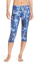 Alo Yoga Women's Alo 'Airbrushed' Performance Capris Deep Electric Python