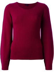 Etro Scoop Neck Jumper Pink And Purple