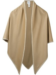 Agnona Trim Detail Scarf Nude And Neutrals