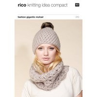 Rico Gigantic Mohair Hat And Scarf Knitting Pattern