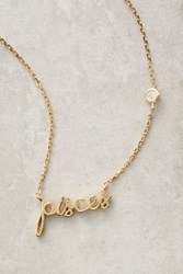 Anthropologie Zodiac Nameplate Necklace Pisces