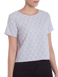 Sugarhill Boutique Geo Print T Shirt Top Blue