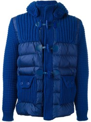 Bark Quilted Zip Up Jacket Blue