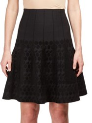 Roland Mouret Embroidered Pull On Skirt Black