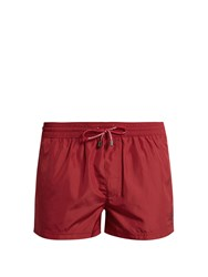 Dolce And Gabbana Crown Embroidered Swim Shorts