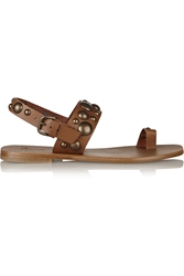 Tomas Maier Studded Leather Slingback Sandals