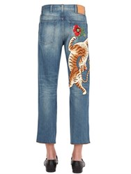 Gucci 20Cm Embroidered Patch Denim Jeans