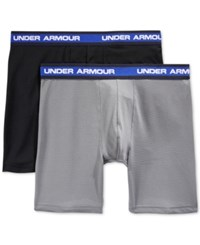 Under Armour Performance Mesh Boxer Briefs 2 Pack Blk Gph