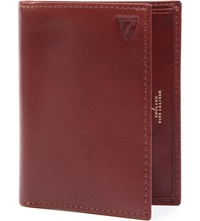 Aspinal Of London Double Fold Leather Card Holder Cognac
