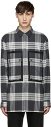 Helmut Lang Grey Flannel Plaid Heritage Shirt