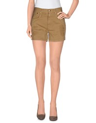 People Denim Denim Bermudas Women Camel