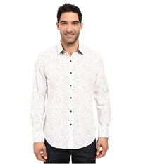 Robert Graham Kallahari Long Sleeve Woven Shirt White Men's Clothing