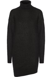 Acne Studios Daija Knitted Turtleneck Sweater Dress Black