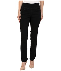 Jag Jeans Petite Peri Pull On Straight In Black Void Black Void Women's Jeans