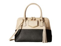 Calvin Klein On My Corner Saffiano Satchel Black Wheat Satchel Handbags Multi
