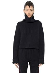 Haider Ackermann Ribbed Wool Turtleneck Cropped Sweater