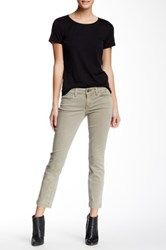 Level 99 Lily Skinny Straight Crop Jean Petite Brown
