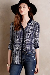 Maeve Art House Buttondown Blue Motif