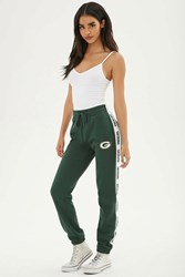Forever 21 Nfl Packers Fleece Sweatpants Green White
