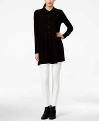 Eileen Fisher Collared Button Up Tunic