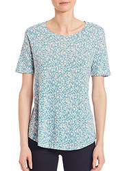 Rebecca Taylor Provence Linen Tee Turquoise