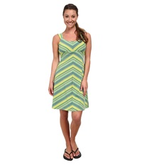 Royal Robbins Essential Tencel Stripe Tank Dress Lime Zest Women's Dress Yellow