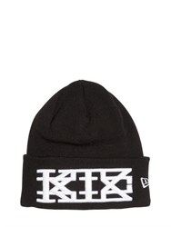 Ktz Embroidered Cotton Beanie Hat
