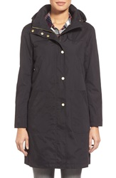 Ellen Tracy A Line Raincoat With Detachable Hood Black