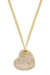 Milor Jewelry Cz Heart Pendant Necklace Metallic