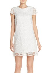 Women's Amanda Uprichard 'Ellery' Embroidered Organza Shift Dress