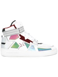 Alberto Premi Panelled Hi Top Sneakers White