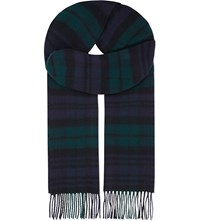 Johnstons Cashmere Woven Scarf Black Watch