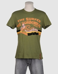 Zu Elements Short Sleeve T Shirts Military Green