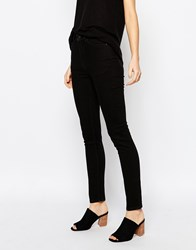 Weekday Thursday High Waist Skinny Jeans Black