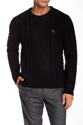 The Kooples Chunky Knit Pullover Black