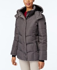 Calvin Klein Fleece Lined Hooded Puffer Coat Titan