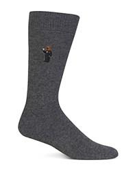 Polo Ralph Lauren Martini Bear Trouser Socks Charcoal Heather