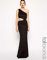 Jarlo Tall Cut Out One Shoulder Maxi Dress Black
