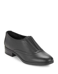 Easy Spirit Neota Leather Slip On Oxfords Black